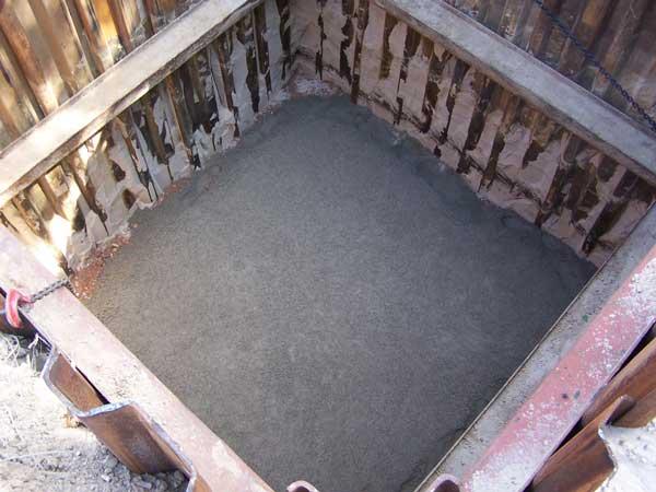 Vorbereitung zum Einbau des Abwasserpumpwerkes Tiefe 6m
